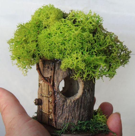 Petite Fairy House P-9: indoor outdoor Fairy by TheElfinPeddler