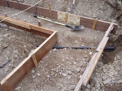footings foundations and monolithic concrete slabs learn how form up and pour your own tiny house construction codes pinterest concrete slab - House Footer