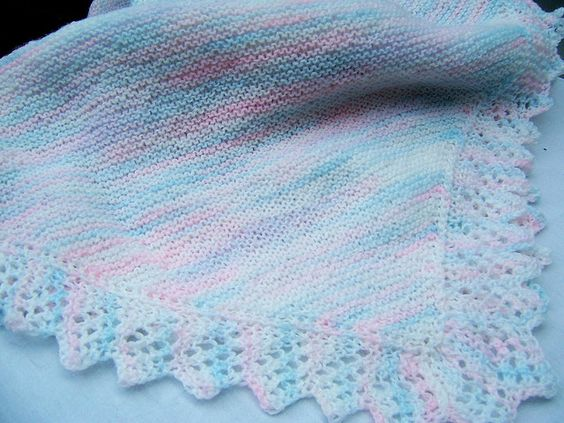 Easy baby blanket, Knit lace and Baby blankets on Pinterest