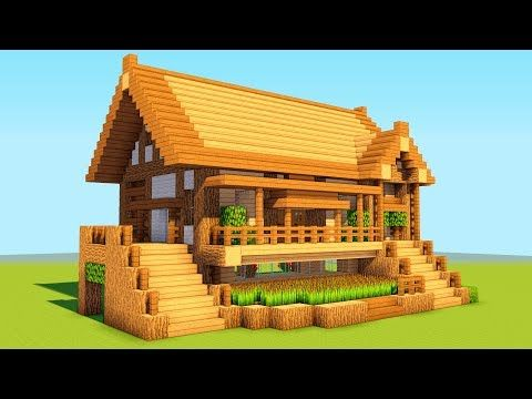 How To Build A Wooden Shelter Survival House Tutorial 2018 Youtube Minecraft House Tutorials Cute Minecraft Houses Easy Minecraft Houses