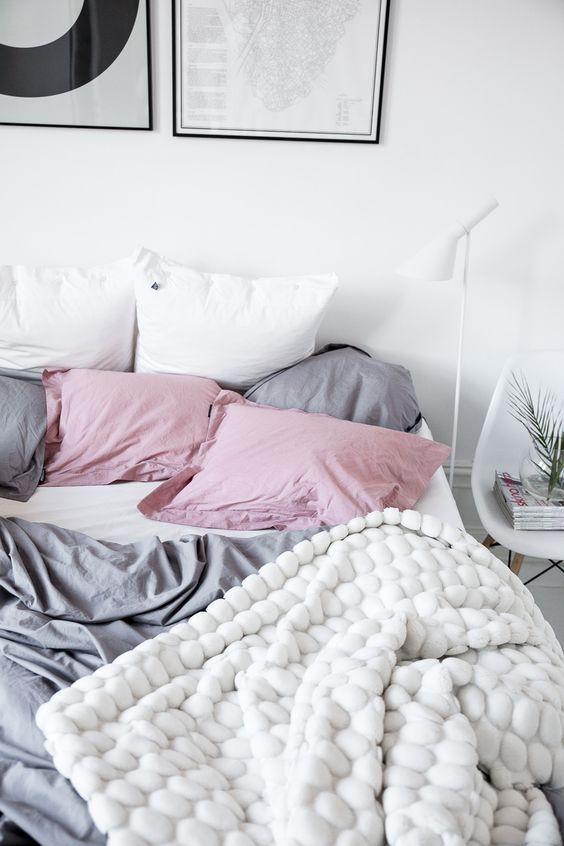 A pop of pink to brighten up your bedroom.