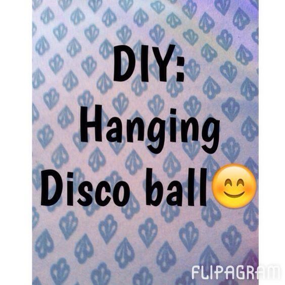 Cute DIY hanging disco ball for locker decoration. Hope you enjoy. - http://flipagram.com/f/Xvyrv20t8d