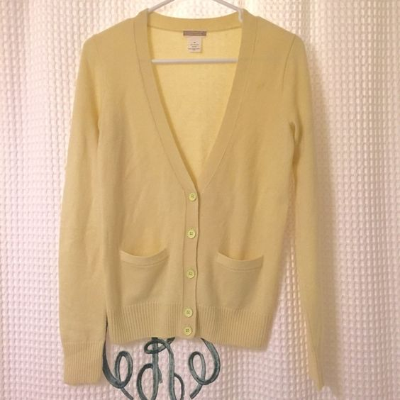 J. Crew Pale Yellow Cashmere Sweater | The Ha, Cashmere Sweaters ...