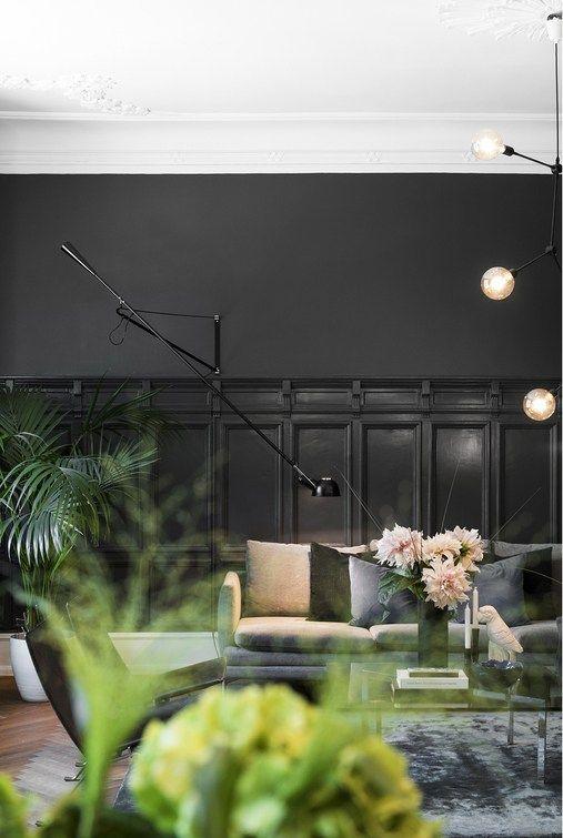 Un Appartement Suedois En Contrastes Planete Deco Appartement Decoration Interieure
