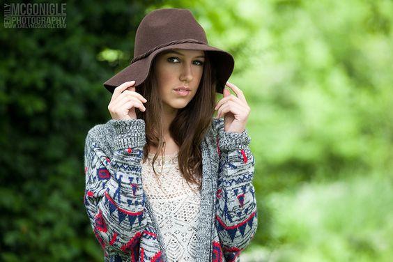 ©2013. Emily McGonigle Photography | www.emilymcgonigle.com | Senior Model: Caroline Grace Gladden | Hair by Glynnis Garcia - www.gghairdesigns.com | Makeup by Alexis Phoenix Faith - https://www.facebook.com/alexis.p.faith | To find out how you can be a senior model for Emily McGonigle Photography, visit: www.emilymcgonigle.com/seniormodel | #Brunette #brownhair #outdoorportrait #trees #hat #SeniorPortrait #HeadShot #LooseCurls #WavyHair