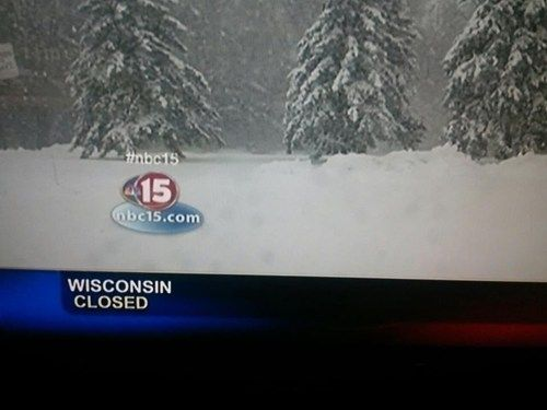 Wisconsin is CLOSED! Try back later.