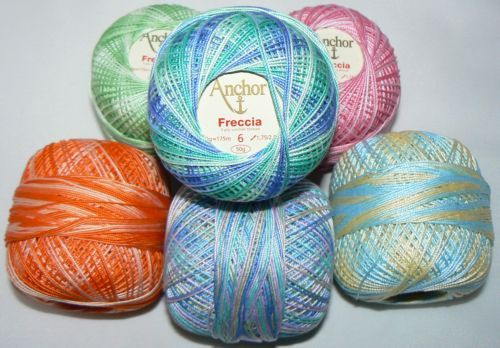 Anchor Freccia Multicolour Crochet Cotton tkt 6, tkt 12, tkt 16