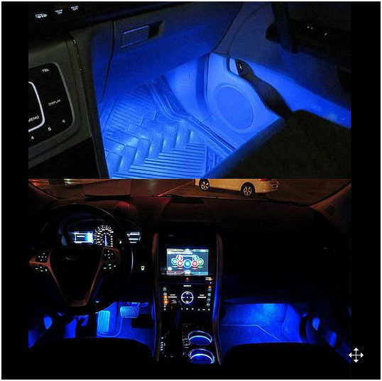 Eclairage Led Voiture Interieur Gaoni Lampe Voiture Interieur 48 Led Lumieres De Bande De Voiture Avec Telecommand In 2020 Led Strip Lighting Strip Lighting Car Led
