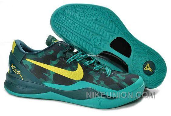Mens Nike Kobe Viii Elite Basketball Shoes YellowBlackMetallic Silver 586156001 For Sale
