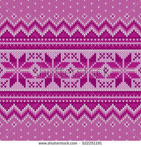 Winter Holiday Seamless Knitting Pattern. Fair Isle Knitted Sweater Design. Christmas Background