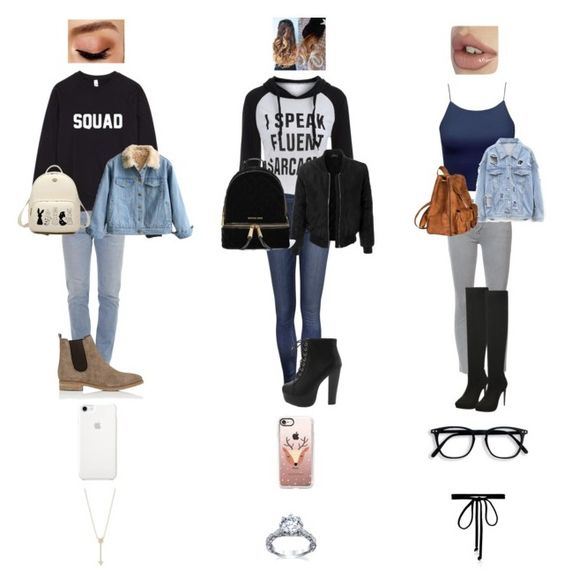 """""""Untitled #111"""" by sosgirl52 ❤ liked on Polyvore featuring Vetements, Barneys New York, EF Collection, Avon, LE3NO, MICHAEL Michael Kors, Casetify, Mother, Yves Saint Laurent and Joomi Lim"""