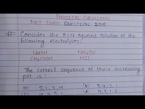 Trick To Calculate The Ph From Molarity And Normality Youtube Physical Chemistry Net Exam How To Find Out