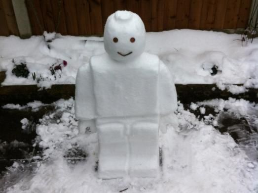 how to build a lego snowman