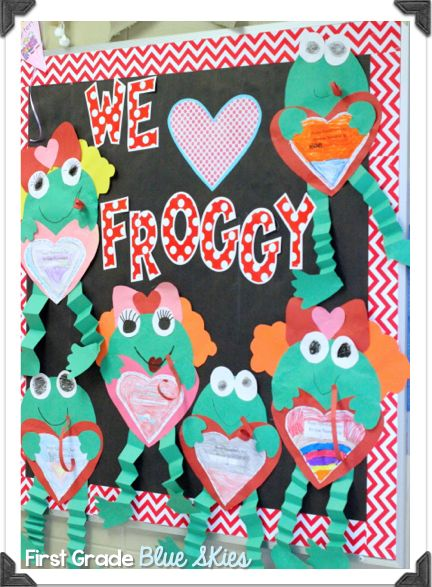 First Grade Blue Skies: Frogilina is Here! Froggy's First Kiss Update: