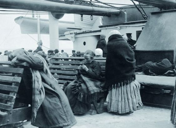 Taken by Father Browne SJ show a glimpse of what things were like before the ship went down....Passengers from steerage settle on deck aboard the Titanic.