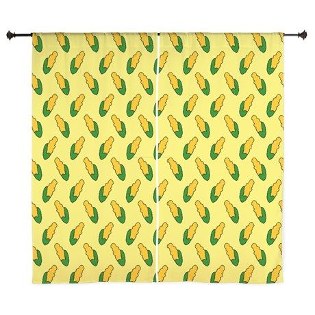 60 Inch Curtains Simpsons Corn Cob Kitchen Curtain on CafePress ...