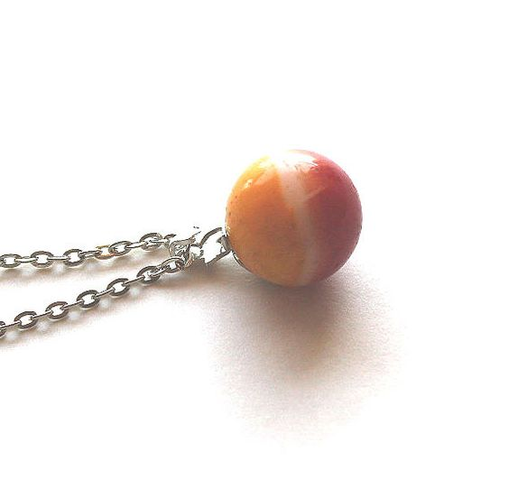 1950s  1960s playful glass marble necklace by Bunnys on Etsy, $17.00