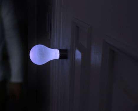 Light Bulb Door Handles - The Knob Light Uses Kinetic Energy (GALLERY)