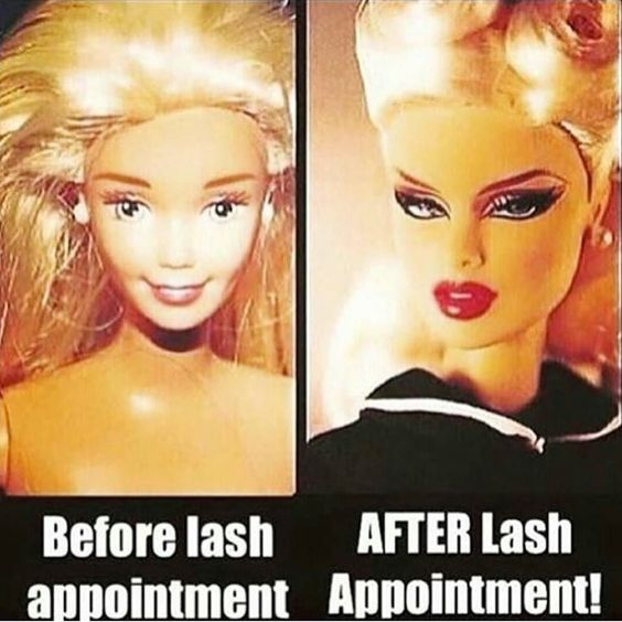 This is exactly how I feel before and after lol #teamlashes#whynotwakeuplikethis#mascarafree#hasslefree#toronto#lashextensions by: @i_mink_lash