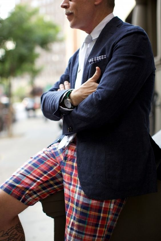 Nick Wooster #nick #wooster #nickwooster #nyfw #men #mens #fashion #style #blazer #jacket #check #tartan #print #pants