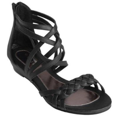 Journee Collection Womens Braided Detail Strappy Sandals,$30.99$30.99