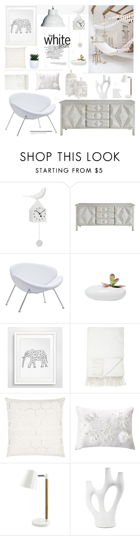 """""""Sin título #2259"""" by liliblue ❤ liked on Polyvore featuring interior, interiors, interior design, home, home decor, interior decorating, Lene Bjerre, Dot & Bo, Barneys New York and Priscilla & Parker"""