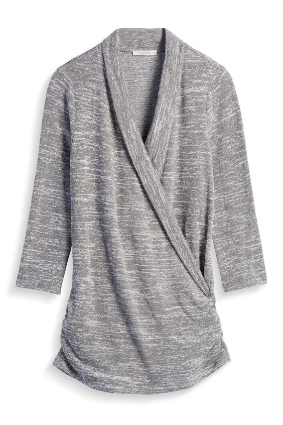 Stitch Fix Fall Styles: Ruche Sides Knit Top by 41Hawthorn