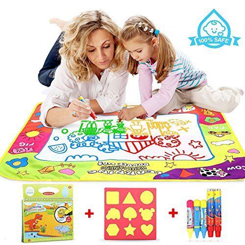 Doodle Mat Enfant 8060cm Cooljoy Tapis Aquadoodle Eau Classique 4 Couleurs Tapis De Dessin Avec Un Livre De Peinture Tapis Aquadoodle Jouets Educatifs Enfant