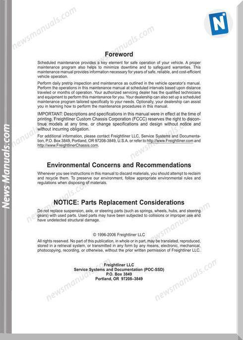 Freightliner School Bus Chassis Maintenance Manual Freightliner School Bus Manual