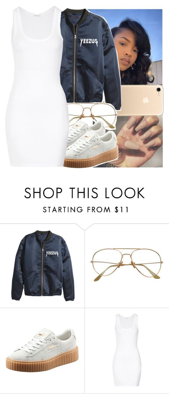 """🤑👐"" by leshabest ❤ liked on Polyvore featuring Puma, American Vintage, Yeezy, fenty and iPhone7"