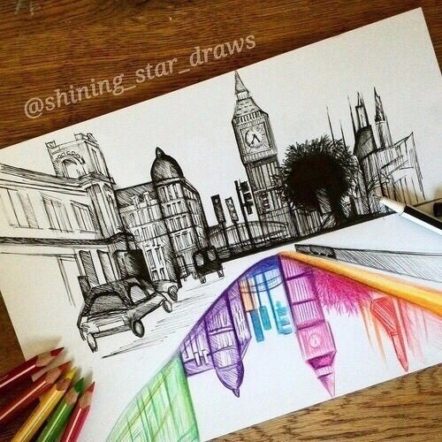 Pastel Dibujo Con Lapiz