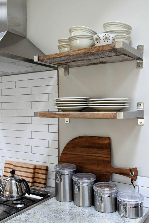 reclaimed wood fitted in Ikea brackets