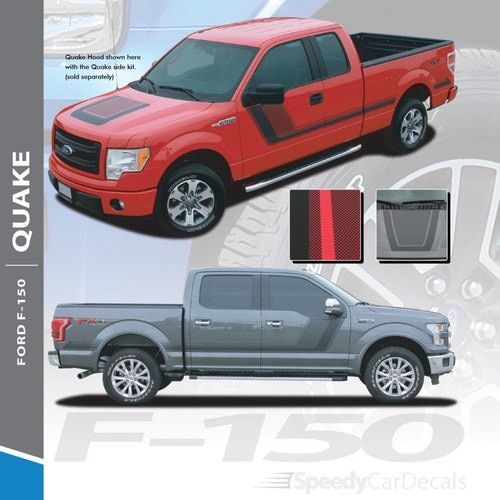 2009-2012 2013 2014 Ford F150 Hockey Side Racing Rally Stripes Decals Graphics