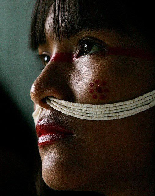 Marubo tribe, Javari Valley, Brazil...her culture tells her so...but her look…