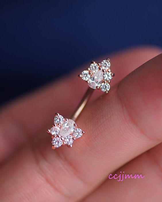 [COMBINE SHIPPING] Pay for single item, ship the rest for free.  This item is made out of surgical steel, zircon.  This listing is for 1 piece.  14g