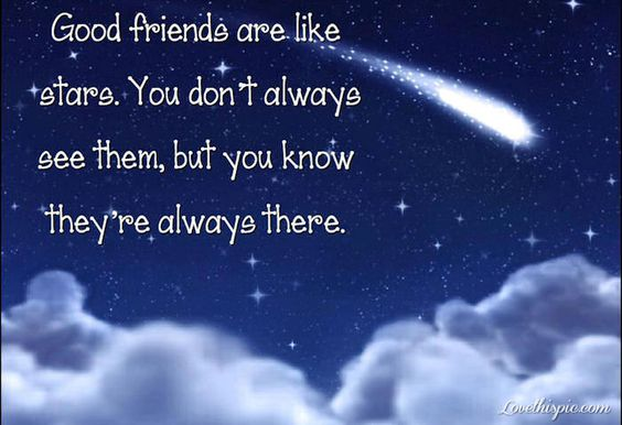 Good Friends Are Like Stars Quotes Cute Friendship Quote
