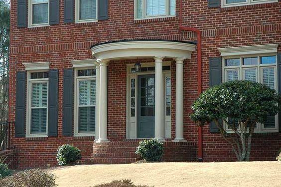 Round Portico Portico Design Georgia Front Porch