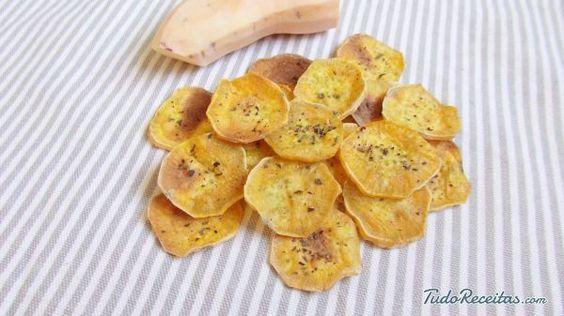 Receita de Chips de batata doce no forno - Fácil