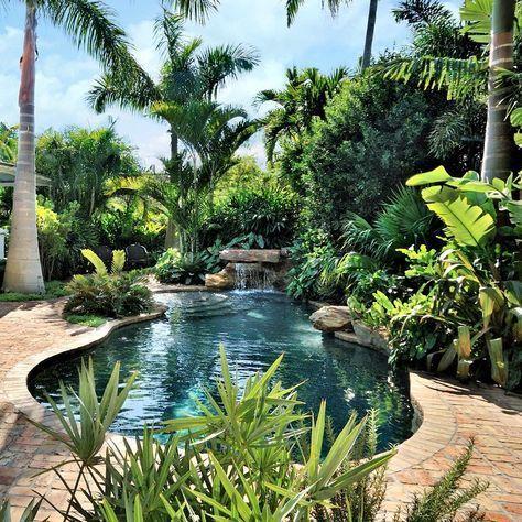 Gardendesign Outdoorliving Landscapearchitecture Landscapedesign Tropicalgarden Tropical Pool Landscaping Pool Landscape Design Backyard Pool Landscaping