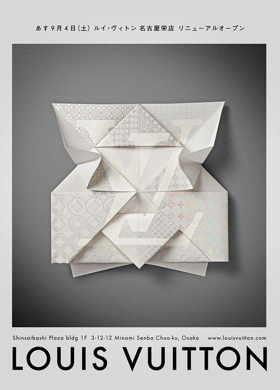 Louis Vuitton – Invitation Origami by Happycentro , via Behance