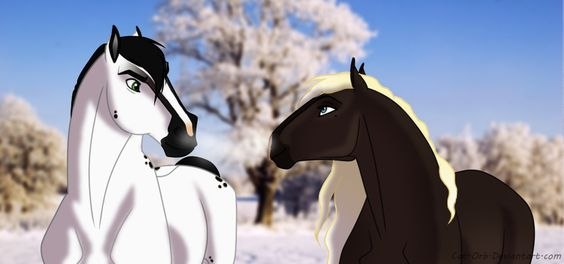 Dice and Coco In The Winter by Cat-Orb.deviantart.com on @deviantART