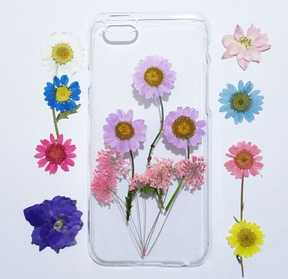 iPhone 6s Case Floral iPhone 5s Case Clear Pressed by mugandcase