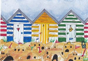 ORiGiNAL watercolour ACEO @Mary Richardson@ THe BiG SaNDCaSTLE CoMPETiTiON 2 | eBay
