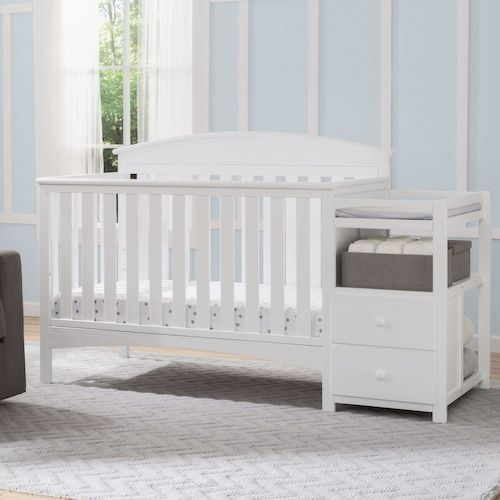 Delta Children Abby Convertible Crib N Changer Kohls Cribs Crib With Changing Table Baby Changing Tables