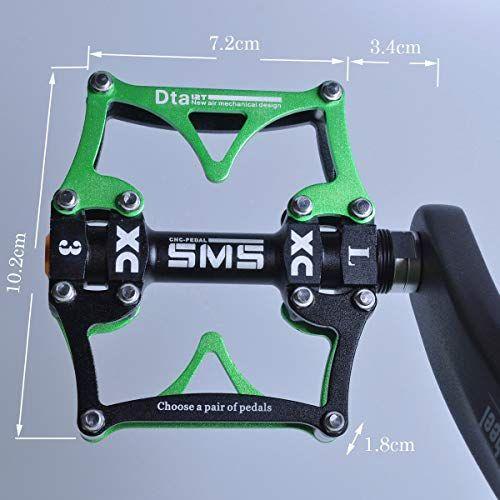 SMS 3 Sealed Bearing Aluminum Alloy BMX MTB Road Bike Pedals Platform 9//16 in