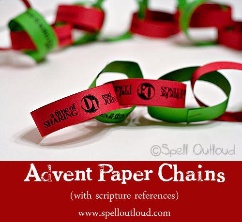 Paper chains, Advent and Scriptures on Pinterest