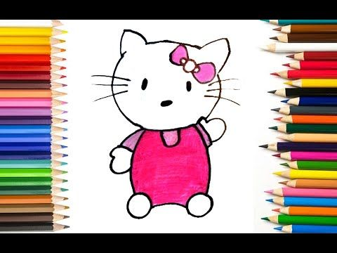 How To Draw Hello Kitty Step By Step Easy Hello Kitty Drawing Drawings Drawing For Kids