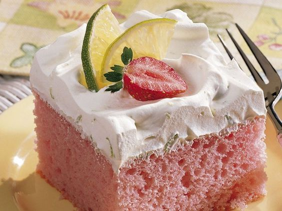 Strawberry Margarita Cake - not worth making.  Nothing special.  I added strawberries to the cake and cool whip to try and give it something more....but it's not one I'll do again.