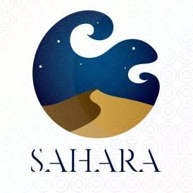 Sahara Travel   Night, Logos and Logo design