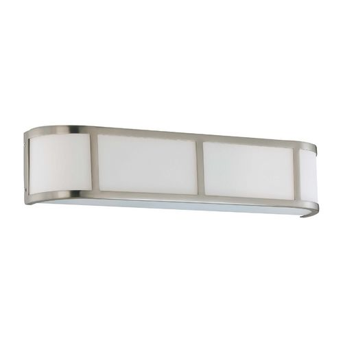 Nuvo Lighting Bathroom Light with White Glass in Brushed Nickel Finish | 60-2873 | Destination Lighting